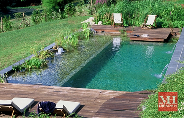 Small Natural Pool Designs 17 best images about swimming pools on pinterest water house the dreamers and plants Allowing Imitate Nature With Landscape Design Also Incorporates Aquatic Plants Rocks Small Waterfalls And Streams Of Water All Natural Spectacle To